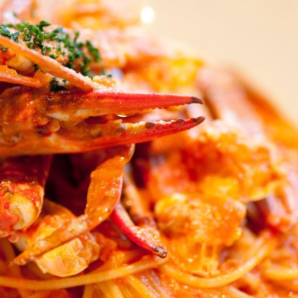 画像1: 蟹のトマトクリームソース