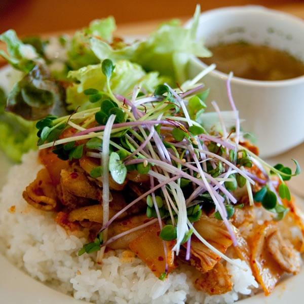 画像1: 豚キムチご飯